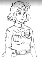 Nausicaa Sketch E8 by Erikku8