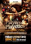 Players and Playettes flyer design