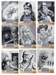 Walking Dead Sketch Cards: 35-43 by AtlantaJones