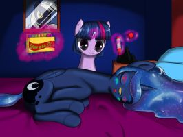 Luna Napping by Skecchiart