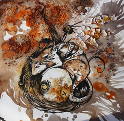 Steampunk Rat - Food Painting by RubisFirenos