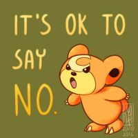 It's ok to say no by KumaMask