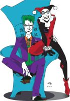 The Joker and Harley Quinn by BlitheFool