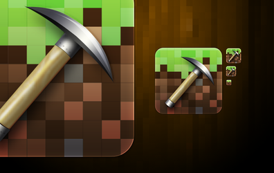 Minecraft Icon by kaishinchan