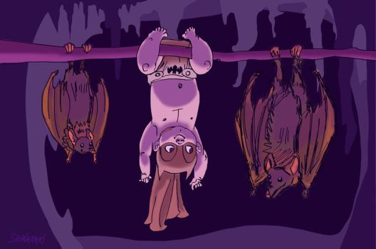 Hanging With Bats by shinakari