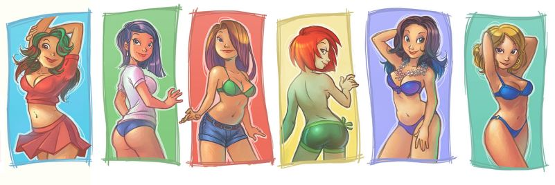 pinup sketches by Timooon