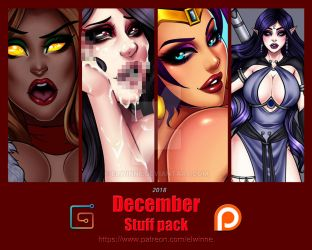 Patreon Stuff pack December 2018 - Gumroad by elwinne