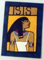 Isis Egyptian atc by mintdawn