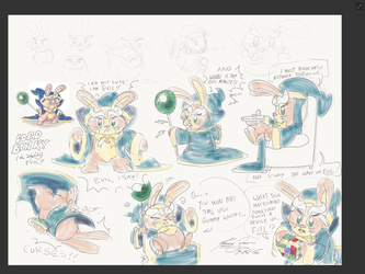 Character Development Sketches - Lord Binky by TheStaticCling