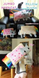 JUMBO Nyancat Pillow Plushie by Shattered-Earth