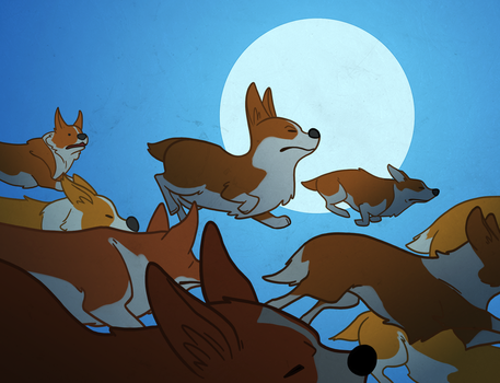 Corgi Revolution by TheAmoebic