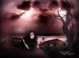 At the grave by annemaria48
