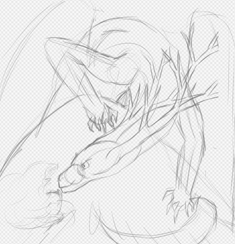 Ryara The Forest Dragon Wip One by Pyrrouge