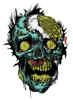 Zombie Face by kidbrainer