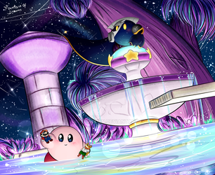 Kirby and The fountain of Dreams by YumYumCorn