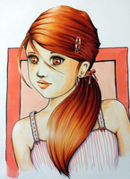 phi in red hair by friskies43