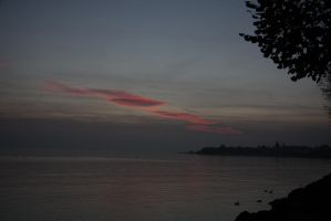 Sunset over Ouchy by Fanf