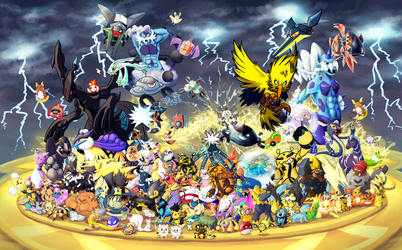 Gotta Draw 'em All: Electric Type Collaboration by Krisantyne
