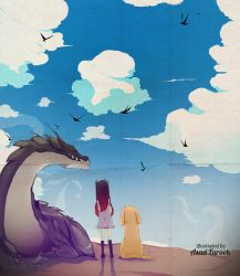 The Girl, the Dog and the Dragon - Color. by asadfarook