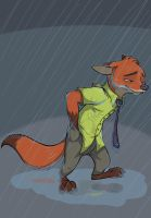 That long rainy walk of isolation. by secoh2000