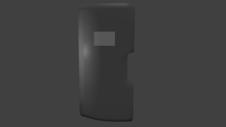 Ballistic shield (front view) by utube2