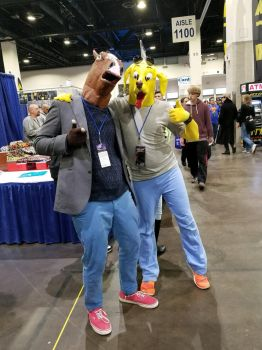 BoJack and Mr. Peanutbutter by Equus-21