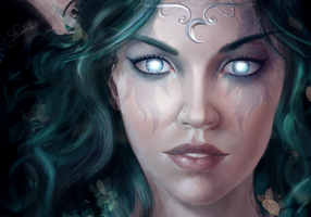 Tyrande Whisperwind by RoanNna