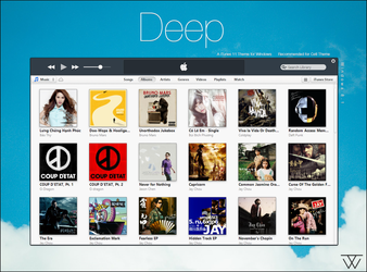 Deep - iTunes 11 Theme for Windows by BluPaper