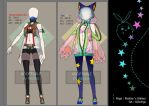 [Adopt]Outfits - Ninja School Girl+Space Cat[Open] by Realize2Heart
