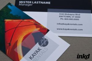 Kayak Rental Business Card by inkddesign