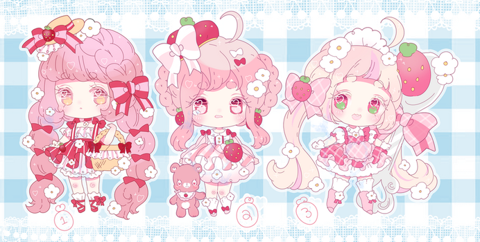 strawberry summer picnic adopts | closed by Hacuubii