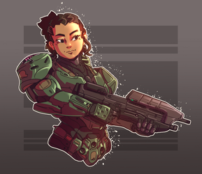 Spartan commission by Just-Rube