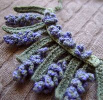 Crochet Lavender Necklace by meekssandygirl