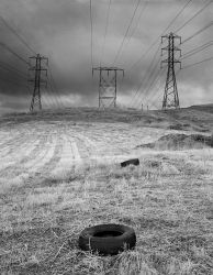 tires in field, Fontana by myoung4828