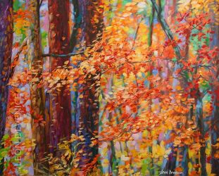 Forest of the heart Oil painting by Leon Devenice by leondevenice