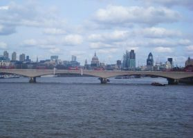 view of london over a bridge by loobyloukitty