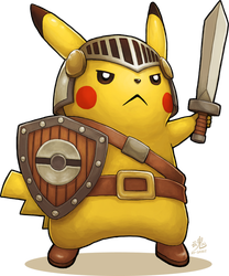 Pikachu Knight by Ry-Spirit