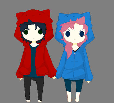 Hoddies With Nani And Navy by kcsss101