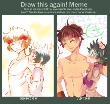 Before and After... once again LOL~ by Milo-Minamino