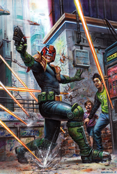 Judge Dredd Megazine No.399 cover by adam-brown
