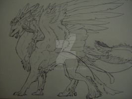 Windchaser Dragon WIP by Penfell
