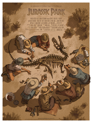 Jurassic Park for MONDO by shoomlah