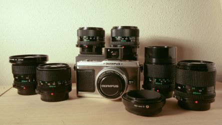 E-P1 with Canon FD lenses by sixtyfour