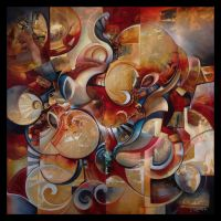 DEORO abstract painting by Amytea