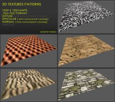 Free 3D textures pack 26 by Yughues