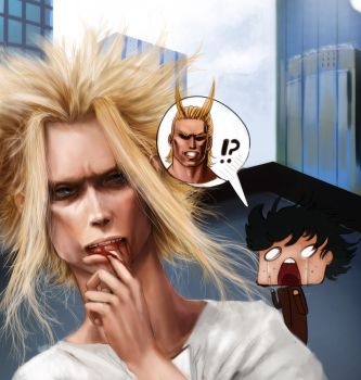 ALL MIGHT - Symbol of Peace!? by WhatICantDo