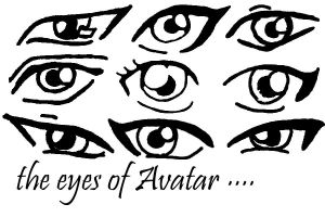 The eyes of Avatar :the Last Airbender by BlckRaven