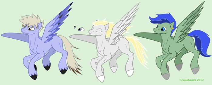 MLP adoptable colt pegasi series - closed by snakehands