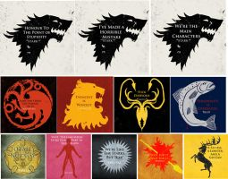 Game of Thrones House Sayings by RachelMustoFende
