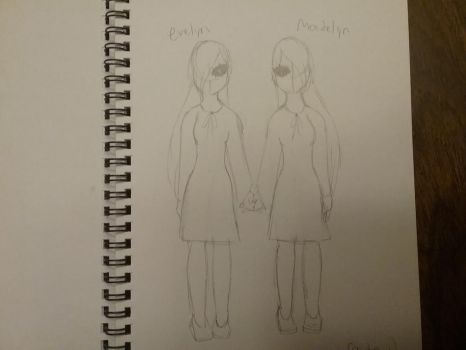 Twins ocs redesign (evelyn and madelyn) by creepergirl890